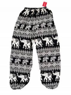 Pantalones Hippies Harem Yoga - Pantalón unisex hippie PAPA16 - Modelo Negro