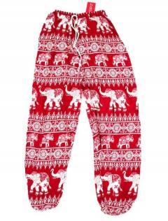 Pantalones Hippies Harem Yoga - Pantalón unisex hippie PAPA16 - Modelo Rojo
