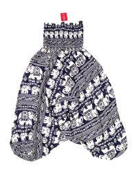 Pantalones Hippies Harem Boho - Pantalón hippie ancho PAPA17 - Modelo Azul os