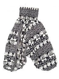 Pantalones Hippies Harem Boho - Pantalón hippie ancho PAPA17 - Modelo Negro