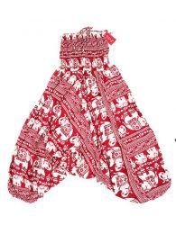 Pantalones Hippies Harem Boho - Pantalón hippie ancho PAPA17 - Modelo Rojo
