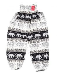 Pantalones Hippies Harem Boho - Pantalón unisex hippie PAPA18 - Modelo Negro