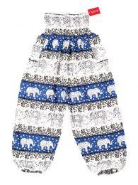 Pantalones Hippies Harem Boho - Pantalón unisex hippie PAPA18 - Modelo Azul cl