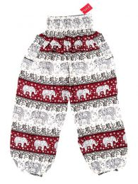 Pantalones Hippies Harem Boho - Pantalón unisex hippie PAPA18 - Modelo Rojo