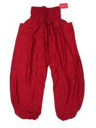 Calças de harém hippie - Calças hippie unissex PAPA19 - Modelo Vermelho