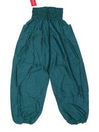 Pantalones Hippies Harem Yoga - Pantalón unisex hippie PAPA19 - Modelo Verde