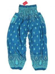 Pantalones Hippie Harem - Pantalón unisex hippie PAPA20 - Modelo Azul