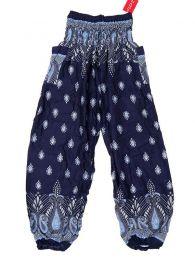 Pantalones Hippie Harem - Pantalón unisex hippie PAPA20 - Modelo Azul os