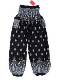 Pantalones Hippie Harem - Pantalón unisex hippie PAPA20 - Modelo Negro