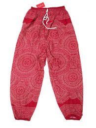 Pantalones Hippie Harem - Pantalón unisex hippie PAPA22 - Modelo Rojo