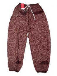 Pantalones Hippies Harem Boho - Pantalón unisex hippie PAPA22 - Modelo Marrón