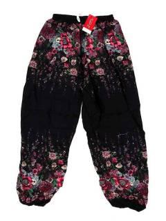 Pantalones Hippie Harem - Pantalón unisex hippie PAPA23 - Modelo Negro