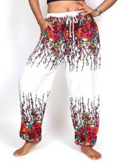 Pantalon amplio rayón estampado PAPA23 para comprar al por mayor o detalle  en la categoría de Ropa Hippie de Mujer | ZAS Tienda Alternativa.
