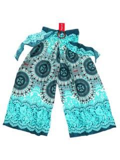 Pantalones Hippies Harem Yoga - Pantalon amplio con estamdo PAPI01 - Modelo Azul