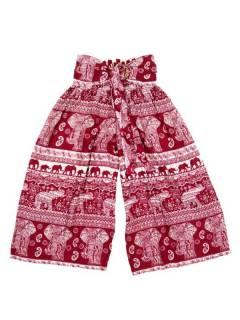 Pantalones Hippies Harem Yoga - Pantalon amplio con estampado PAPI02 - Modelo Rojo