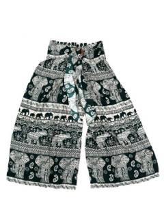 Pantalones Hippies Harem Yoga - Pantalon amplio con estampado PAPI02 - Modelo Verde