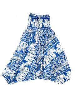 Pantalones Hippies Harem Yoga - Pantalón hippie ancho PAPI05 - Modelo Azul