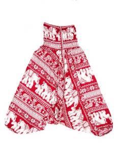 Pantalones Hippies Harem Yoga - Pantalón hippie ancho PAPI05 - Modelo Rojo
