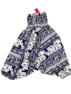Pantalones Hippies Harem Yoga - Pantalón hippie ancho PAPI05 - Modelo Azul m
