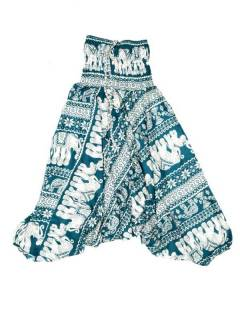 Pantalones Hippies Harem Yoga - Pantalón hippie ancho PAPI05 - Modelo Verde