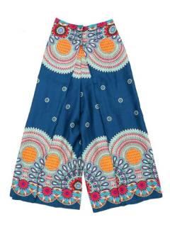 Pantalones Hippie Harem - Pantalon amplio pierna cruzada PAPI04 - Modelo Azul