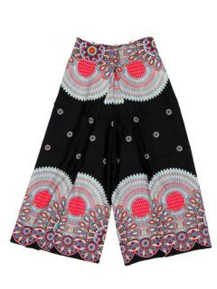 Pantalones Hippie Harem - Pantalon amplio pierna cruzada PAPI04 - Modelo Negro