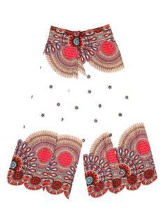 Pantalones Hippie Harem - Pantalon amplio pierna cruzada PAPI04 - Modelo Blanco