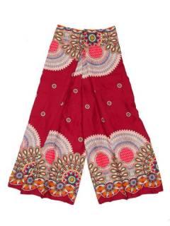 Pantalones Hippie Harem - Pantalon amplio pierna cruzada PAPI04 - Modelo Rojo