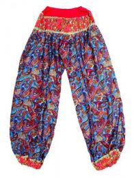 Pantalon afgano en rayón Mod Rojo