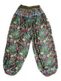 Pantalones Hippie Harem - Pantalon afgano en rayón PAPJ01 - Modelo Army