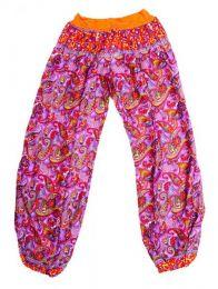 Pantalones Hippie Harem - Pantalon afgano en rayón PAPJ01 - Modelo Naranja