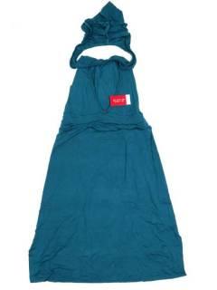 Monos Petos y Vestidos largos - Pantalón mono hippie PAPN03P - Modelo Azul