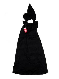Monos Petos y Vestidos largos - Pantalón mono hippie PAPN03P - Modelo Negro