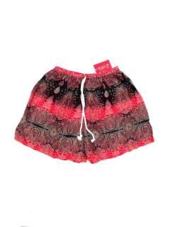 Pantalones Cortos Verano - Pantalón hippie corto PAPN06 - Modelo Rojo