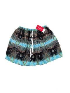 Pantalones Cortos Verano - Pantalón hippie corto PAPN06 - Modelo Azul cl