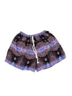 Pantalones Cortos Verano - Pantalón hippie corto PAPN06 - Modelo Azul