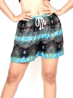 Pantalon corto estampado Etnico PAPN06 para comprar al por mayor o detalle  en la categoría de Ropa Hippie de Mujer | ZAS Tienda Alternativa.