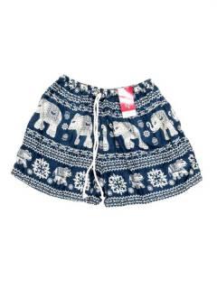 Pantalones Cortos Verano - Pantalón hippie corto PAPN07 - Modelo Azul