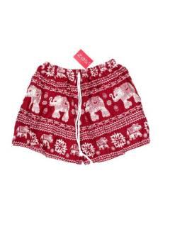 Pantalones Cortos Verano - Pantalón hippie corto PAPN07 - Modelo Rojo