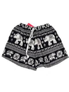 Pantalones Cortos Verano - Pantalón hippie corto PAPN07 - Modelo Negro
