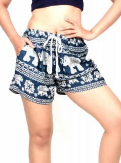 Pantalon corto estampado elefantes PAPN07 para comprar al por mayor o detalle  en la categoría de Ropa Hippie de Mujer | ZAS Tienda Alternativa.