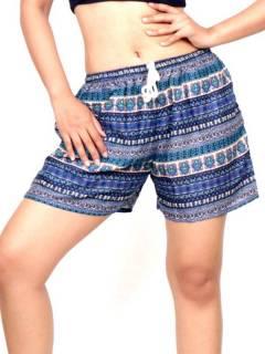 Shorts com estampa étnica, para compra no atacado ou detalhe na categoria Vestuário Hippie Feminino | ZAS Alternative Store. [PAPN08]