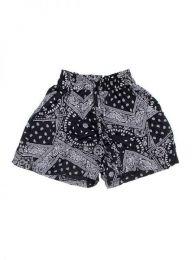 Pantalón hippie corto Mod Negro