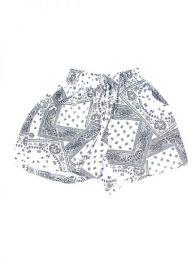 Pantalones Cortos Hippie Ethnic - Pantalón hippie corto PAPO05 - Modelo Blanco