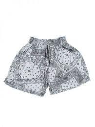 Pantalón hippie corto Mod Gris