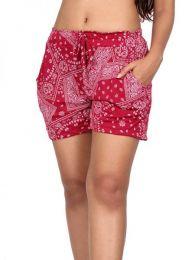 Pantalones Cortos Hippie Ethnic - Pantalon corto rayón estampado [PAPO05] para comprar al por mayor o detalle  en la categoría de Ropa Hippie Alternativa para Mujer.