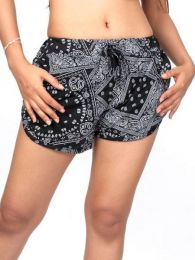 Ethnic Hippie Shorts - Printed rayon shorts [PAPO06] to buy in bulk or in detail in the category of Alternative Hippie Clothing for Women.