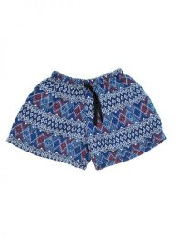 Pantalón hippie corto Mod Azul 2