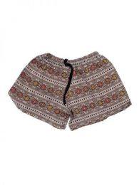 Pantalones Cortos Hippie Ethnic - Pantalón hippie corto PAPO07 - Modelo Marrón
