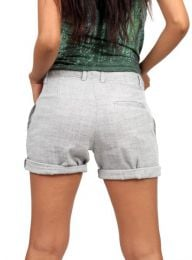 pantalón corto pinzas detalle del producto